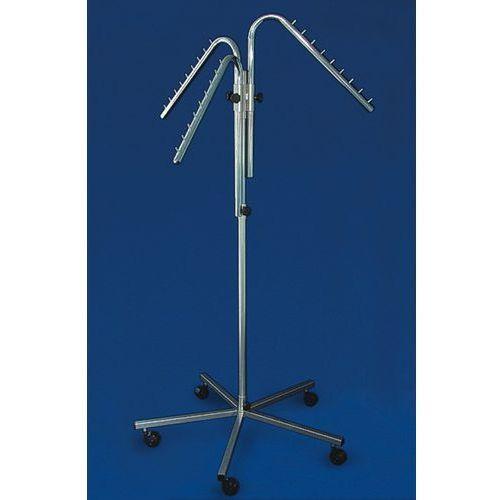 Stojak metalowy,,krzyżak trzyramienny skośny'' (SC63) - chromowany, 00985