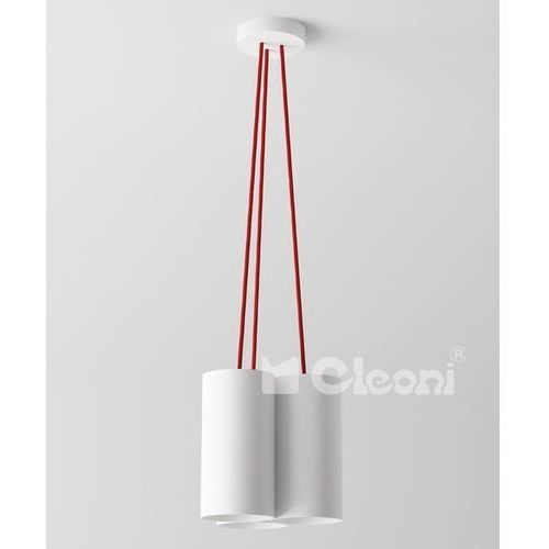 lampa wisząca CERTO B5B z pomarańczowymi przewodami, CLEONI 1291B5B+