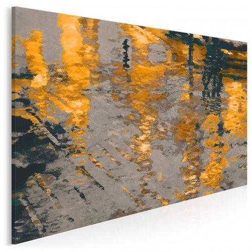 Odbicie słonecznego miasta - nowoczesny obraz na płótnie, 06003