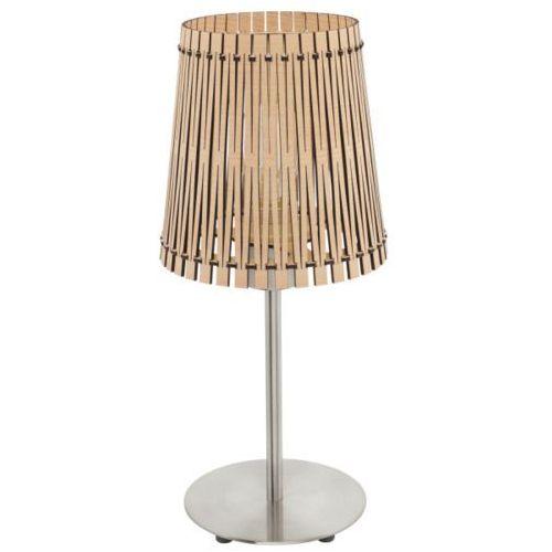 Eglo Lampa biurkowa sendero odcień drewna, 96196
