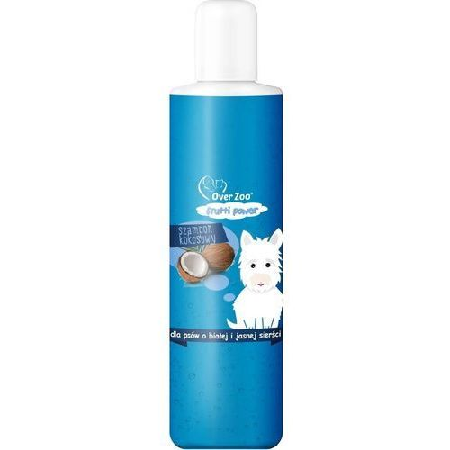 frutti power szampon o zapachu kokosowym - psy z białą i jasną sierścią 200ml marki Over zoo