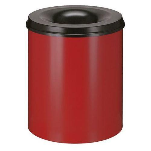 Vepa bins Kosz na papier, samogaszący, poj. 80 l, korpus czerwony / głowica gasząca czarna