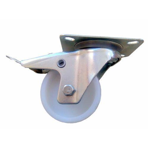 Koło kółko koła fi 80 mm poliamid z hamulcem. 90 kg nośność.