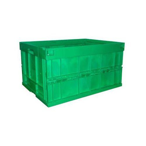 Walther faltsysteme Pojemnik składany z polipropylenu, poj. 200 l, bez pokrywy, zielony. z polipropy