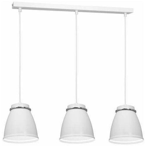 Luminex Lerdo 1937 lampa wisząca zwis 3x60W E27 biała/chrom (5907565919370)