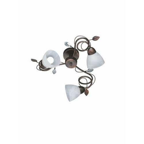 Trio-Leuchten Traditio Lampa Sufitowa Ciemnobrązowy, Rudy, 3-punktowe - Dworek - Obszar wewnętrzny - TRADITIO - Czas dostawy: od 3-6 dni roboczych
