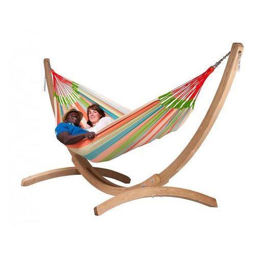 La siesta Zestaw hamakowy: hamak rodzinny domingo ze stojakiem canoa, kolorowy doh18cns201