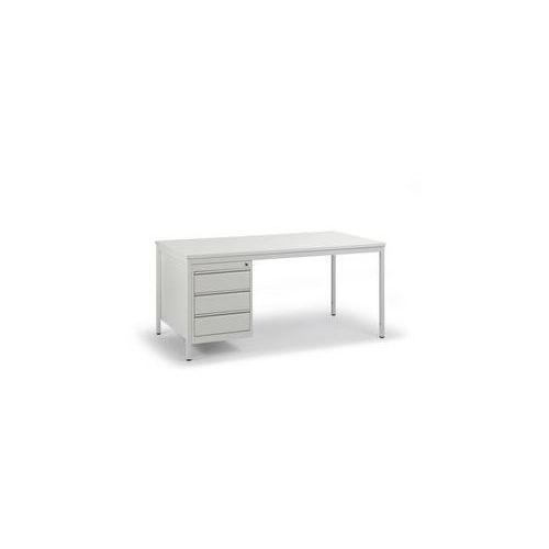 Biurko dla mistrza, jasnoszare,szer. x gł. 1600 x 800 mm