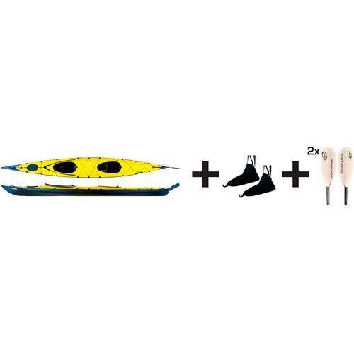 Triton advanced ladoga 2 advanced kajak pakiet żółty/czarny 2018 kajaki i canoe