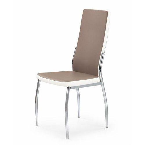 Krzesło do jadalni z chromowanym stelażem k210 marki Halmar