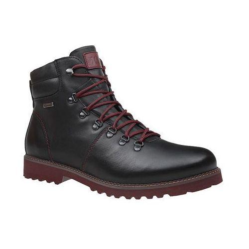 b3f31c5f2651e Trzewiki zimowe KRISBUT 6341-5-4 Czarne ocieplane trekkingowe, kolor czarny