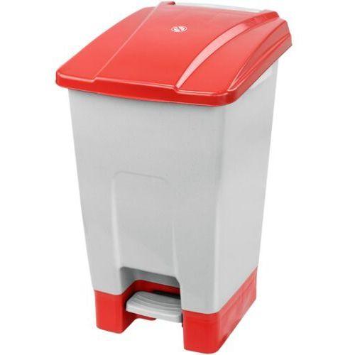 Kosz na śmieci otwierany przyciskiem pedałowym 70 L czerwony Kosz na odpady medyczne, Kosz do szpitala