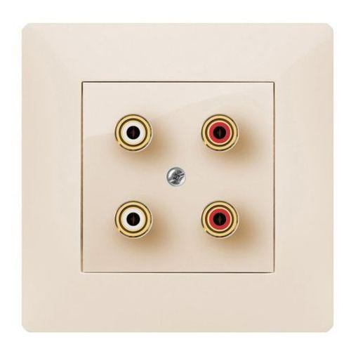 ELEKTROPLAST VOLANTE Gniazdo podwójne głośnikowe Kremowy 2658-01 (5902012985861)