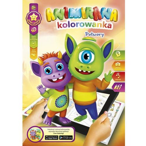 Kolorowanka a4 /8 4d potworki (8606003427800)