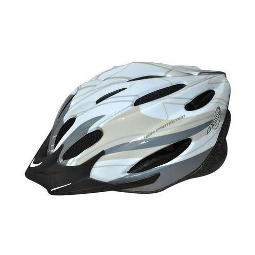 Kask rowerowy voyager shiny white silver (rozmiar l) marki Axer bike