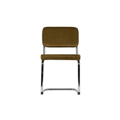 Woood Krzesło Set of 2 aksamitne z metalową ramą zielone 373584-G (8714713075430)