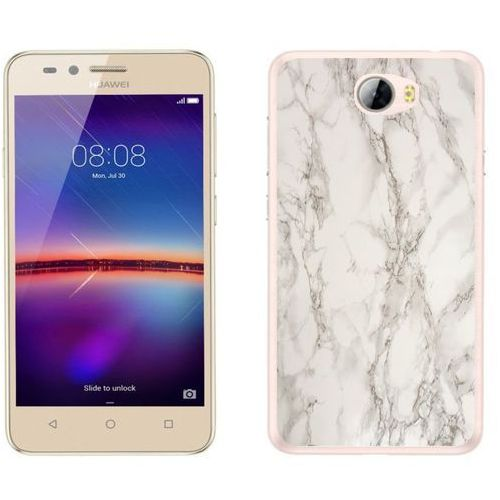 Huawei Y5 II - etui na telefon - Kolekcja marmur - marble biały - H17 - Marble biały, kolor biały