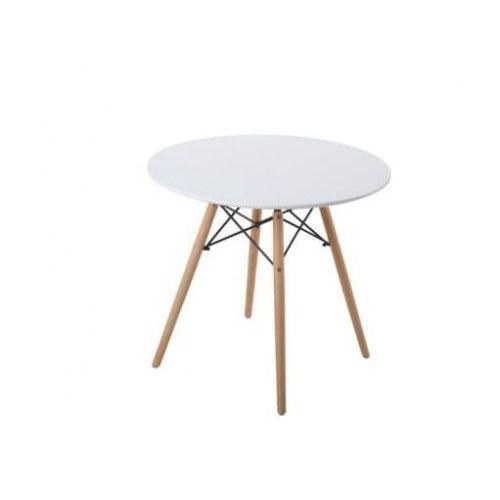 Stół okrągły biały skandynawski 80cm big-001 dostawa 0zł marki Big meble