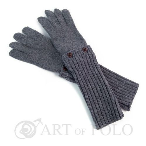 Evangarda Szare uniwersalne rękawiczki 3 w 1 długie, krótkie, mitenki - szary