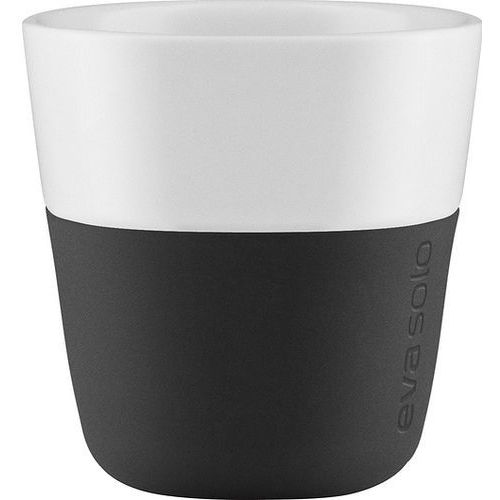 Eva solo Porcelanowa filiżanka do espresso, czarna, 2 szt -