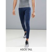 ASOS 4505 Tall skinny training joggers with zip cuff in navy - Navy, kolor szary