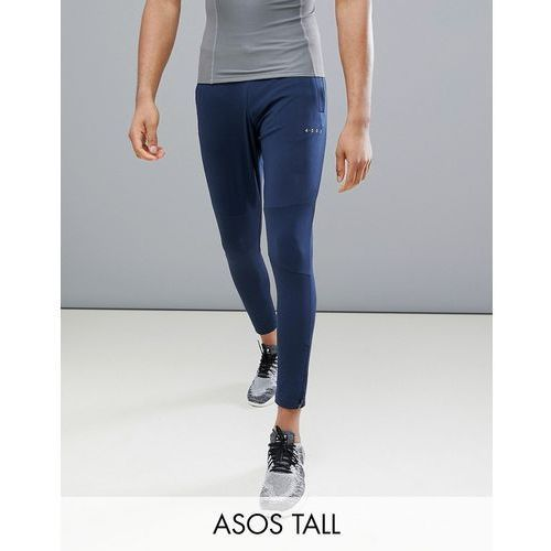 ASOS 4505 Tall skinny training joggers with zip cuff in navy - Navy