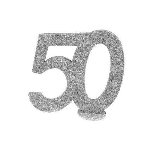 Dekoracja stołu pięćdziesiątka srebrna 50-tka - 1 szt. marki San