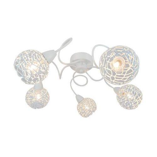 Plafon Zuma Line Olten R5017002-5CL lampa sufitowa 5x40W E14 biały, R5017002-5CL