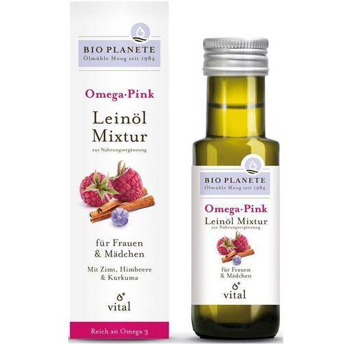 Bio planete (oleje i oliwy) Omega pink - mieszanka z olejem lnianym (malina i cynamon) bio 100 ml - bio planete (4260355580039)