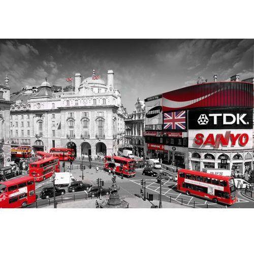 Londyn piccadilly circus - czerwone autobusy - plakat, marki Gb