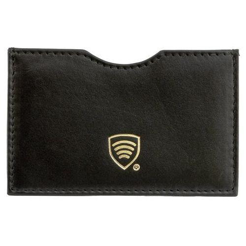 ✅ Etui ze Skóry Blokujące Kartę Kredytową Płatniczą Zbliżeniową RFID - Czarny połysk (5902730820925)