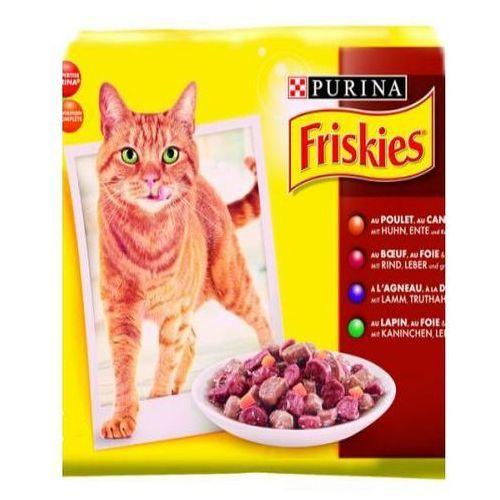 Friskies w sosie z wołowiną karma dla kotów saszetka zestaw 12x100 g - produkt z kategorii- Karmy i przysmaki dla kotów