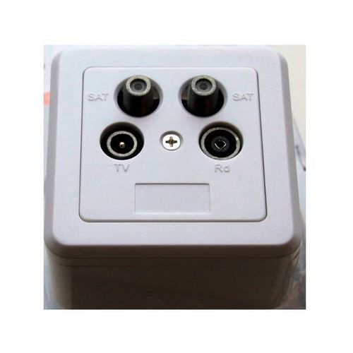 Triax wall outlet - fm/tv/sat-twin - terminated