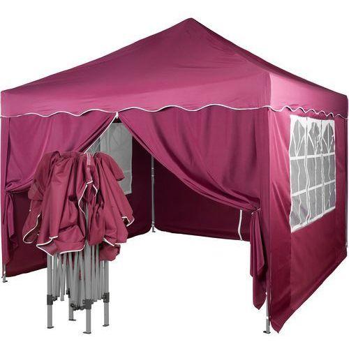 Instent ® Ekspresowy pawilon namiot ogrodowy handlowy 3x3m + 4 ścianki - czerwony (odcień bordowy) (30030336)