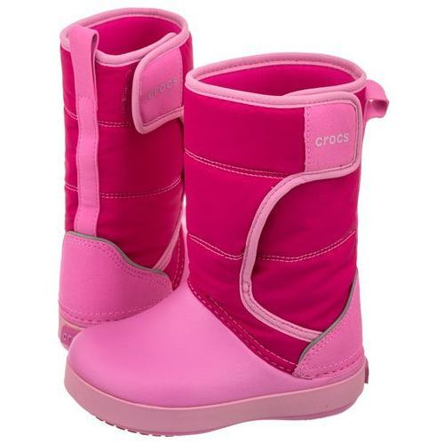 Crocs Śniegowce lodgepoint snow boot k candy pink/party pink 204660-6lr (cr129-b)
