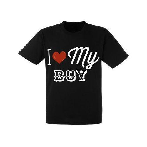 Koszulka Żony Dziewczyny Nadruk Love My Boy - DKC010