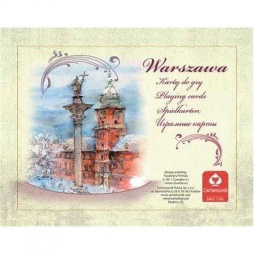 Cartamundi karty warszawa akwarele 2x55 (5901911001672)