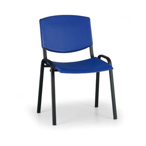 Krzesło konferencyjne Smile, niebieski - kolor konstrucji czarny