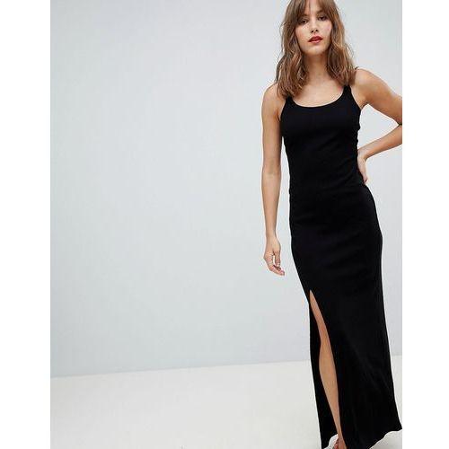 River Island Cami Bodycon Maxi Dress - Black, kolor czarny
