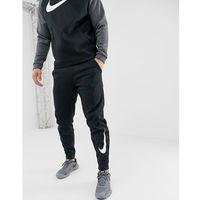 therma tapered swoosh joggers in black 932257-010 - black, Nike training, L-XL