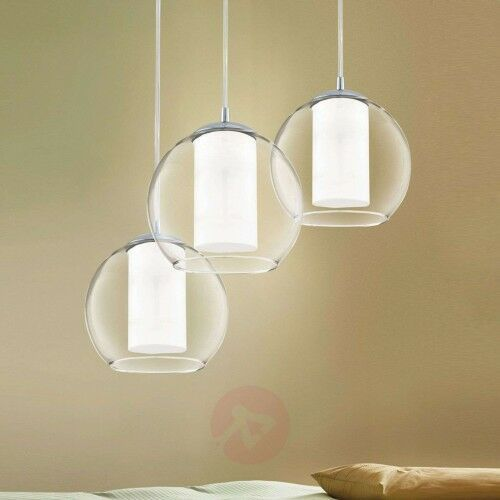Bolsano – 3-punktowa lampa wisząca ze szkła marki Eglo