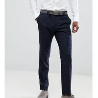 Noak slim stretch suit trousers in grid check - navy