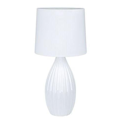 Lampa stołowa Stephanie E27 1 x 60 W biała (7330024567573)