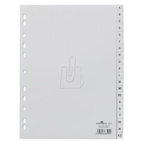 Przekładki do segregatora A-Z Durable A4 20 stron szare 6513-10, 82651