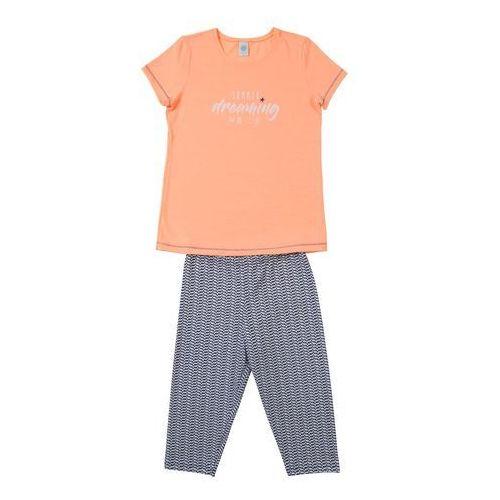 Sanetta piżama nakrapiany szary / pomarańczowy