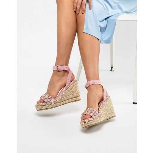River Island wedges with embellished front - Multi