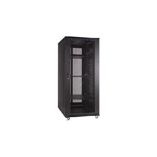 Szafa Linkbasic 27U 600x800 + drzwi przednie z perforowanej stali z zamkiem + cztery wentylatory + dwie półki + listwa zasilająca, NCB27-68-IFA-C-STD