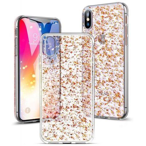 sparkly glitter pink gold apple iphone x / 10 marki Esr