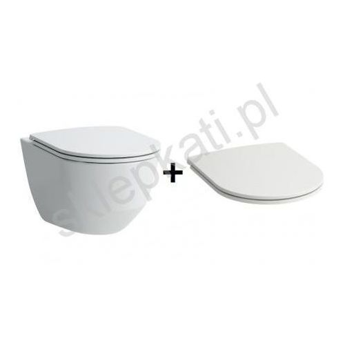 Laufen pro a rimless slim miska wc + deska wolnoopadająca