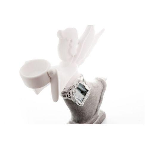 Home Świecznik anioł na tealight szary popielaty witraż